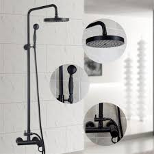 2017 luxury shower set euro style wall mounted shower mixer with