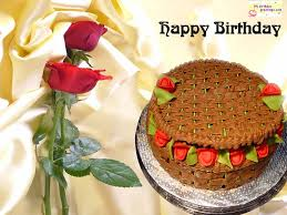 gorgeous birthday greeting postcard idea with red roses and rattan