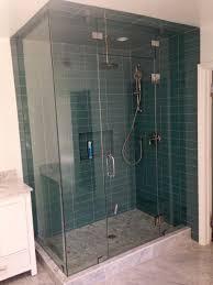 glass shower door splash guard quicksglassndoors frame less shower doors