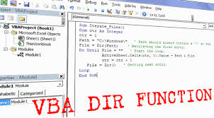 vba dir function how to use in excel