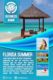 destination travel images Travel agency or tourism destination flyer template aqua blue jpg