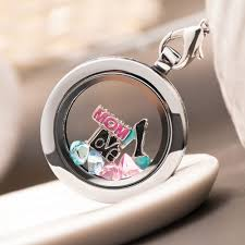 charm locket necklace charms images Large silver magnetic living memory locket necklace with floating jpg