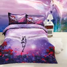 Cheap Purple Bedding Sets Unicorn Purple Bedding 3d Duvet Cover Set 3d Bedding Pinterest