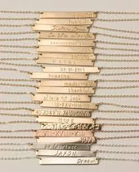 Personalized Bar Necklace This Necklaces Features A 14k Gold Bar Personalized With Any Name