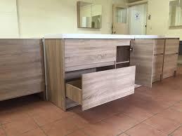 moda 1200mm white oak timber wood grain floor standing bathroom