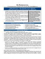 Pharmaceutical Resume Storeyline Resumes Executive Style Resume Samples