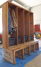 Doorway Bench by Mudroom Makeover Project Boot Storage Mudroom And Gloves