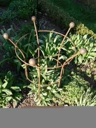 artisan plant supports metal work plants gardens