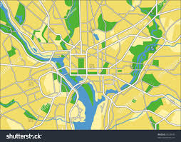 Map Of Washington D by Vector Map Washington Dc Stock Vector 35256535 Shutterstock