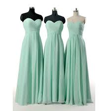 mint green bridesmaid gown pretty prom dresses chiffon prom gown