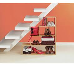 under stairs shelving buy home understairs shoe storage unit beech effect hallway