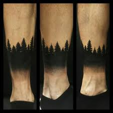 david allen design a dark forest tattoo on forearm golfian com