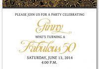 50th birthday invitation templates free printable party