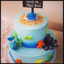 baby shower cakes ocean theme under the sea baby shower under