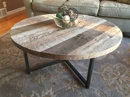 reclaimed wood round coffee table decor of reclaimed wood round coffee table custom coffee tables
