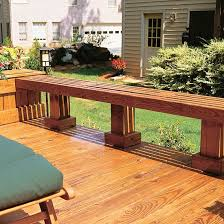 built in seating solutions for your deck or patio decking