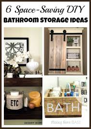 small bathroom diy ideas space saving diy bathroom storage ideas