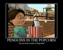 penguins in the popcorn by missfeliggy on deviantart