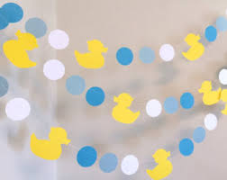 duck baby shower decorations ducky etsy