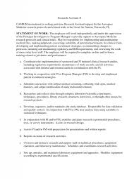 ideas of cover letter example for research job also summary sample