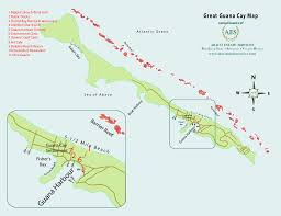 abaco resort map abaco estate services map of great guana cay abaco bahamas