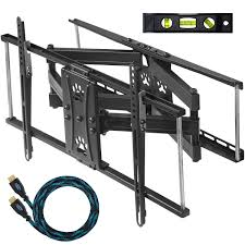 full motion tv wall mount 60 inch cheetah mounts apdam2b dual articulating arm 20 u201d extension tv