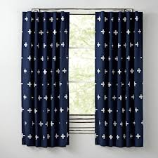 Nursery Curtains Blackout by Blue Positive Curtain The Land Of Nod
