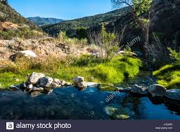 Ojai California Map A Natural Pool Of Water At The Sespe Springs Near Ojai