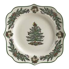 spode square christmas tree garland plate christmas tree shops