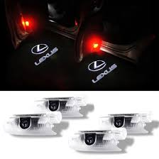 lexus logo clothing 4pcs lexus car door led logo projector welcome step light ghost