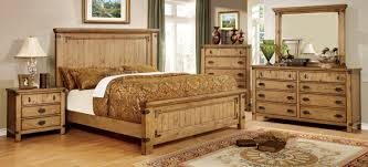 furniture of america wood bed sears com burnished pine zyra