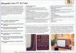 obsolete technology tellye blaupunkt werke java tv 16 color