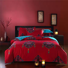 Wedding Comforter Sets Princess Chinese Style Wedding Comforter Sets 5pc 100 Cotton