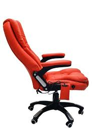 luxury leather reclining office chair with 6 point massage study