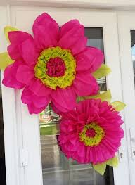 hot pink tissue paper 10 best images about paper flowers on window