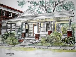 houses drawings watercolor house paintings and drawings
