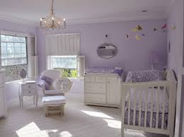 awesome nursery ideas for baby boy with purple stained wall