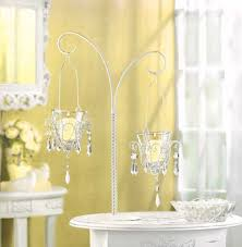Shabby Chic Candle Sconces White Candle Holders And Crystal Candle Holders Bargain Bunch