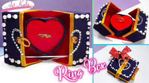ring pop boxes how to make ring box heart pop up s day diy