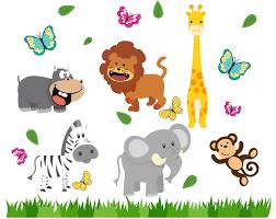 forest animal clipart animals clip art set giraffe lion monkey