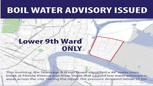 New Orleans Ward Map by Boil Water Advisory Lifted For Lower Ninth Ward Wwltv Com