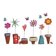 cartoon flower butterfly wall stickers diy decal window glass cartoon flower butterfly wall stickers diy decal window glass decor home decoration kids children room decals designs