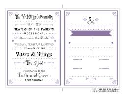 50th wedding anniversary program templates editable wedding program templates free templates
