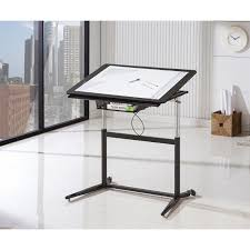 Drafting Table Adjustable Height Coaster Height Adjustable Standing Drafting Desk In Black 800668