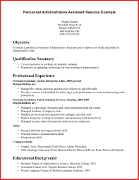 exle of administrative assistant resume administrative