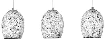 Pendant Light Shades Modern White Mosaic Glass 3 L Pendant Light 8069 3wh