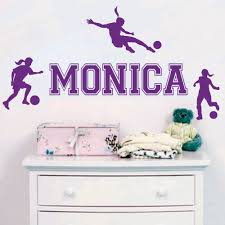 online get cheap soccer wallpaper decor aliexpress com alibaba custom personalized name girl soccer sports wall stickers living room bedroom home decor wallpaper mural y