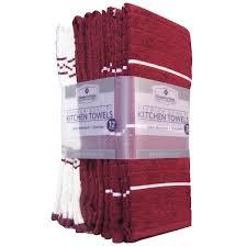 member u0027s mark kitchen towels 12 pack burgundy walmart com