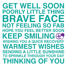 get well soon cards get well soon sentiments card by megan notonthehighstreet
