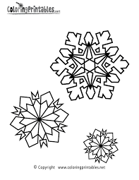 snowflake coloring page free coloring home
